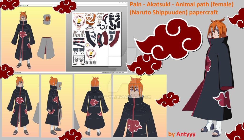 Pain - Animal path (female) - Akatsuki papercraft by Antyyy