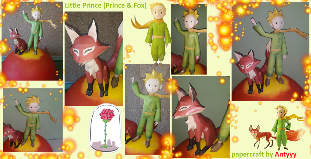 The little prince built papercraft by Antyyy