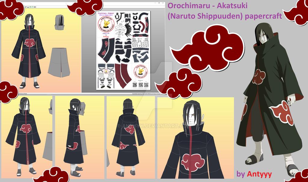 Orochimaru - Akatsuki (Naruto) papercraft by Antyyy