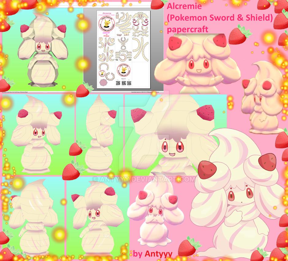Alcremie (Pokemon Sword/Shield) papercraft by Antyyy