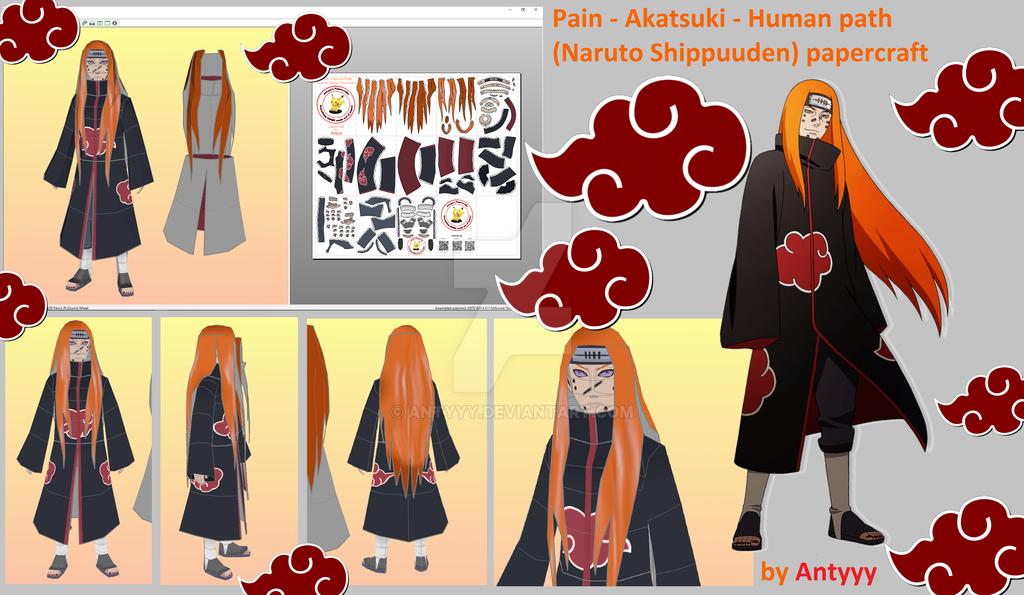Pain - Human path - Akatsuki (Naruto) papercraft by Antyyy