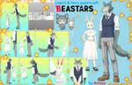 Beastars (Legosi and Haru) papercraft