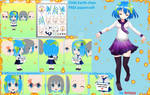 Earth-chan (Earth chibi) FREE papercraft download