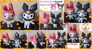 My Melody/ Kuromi (Sanrio) built papercraft