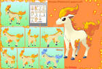 Ponyta (Pokemon) papercraft