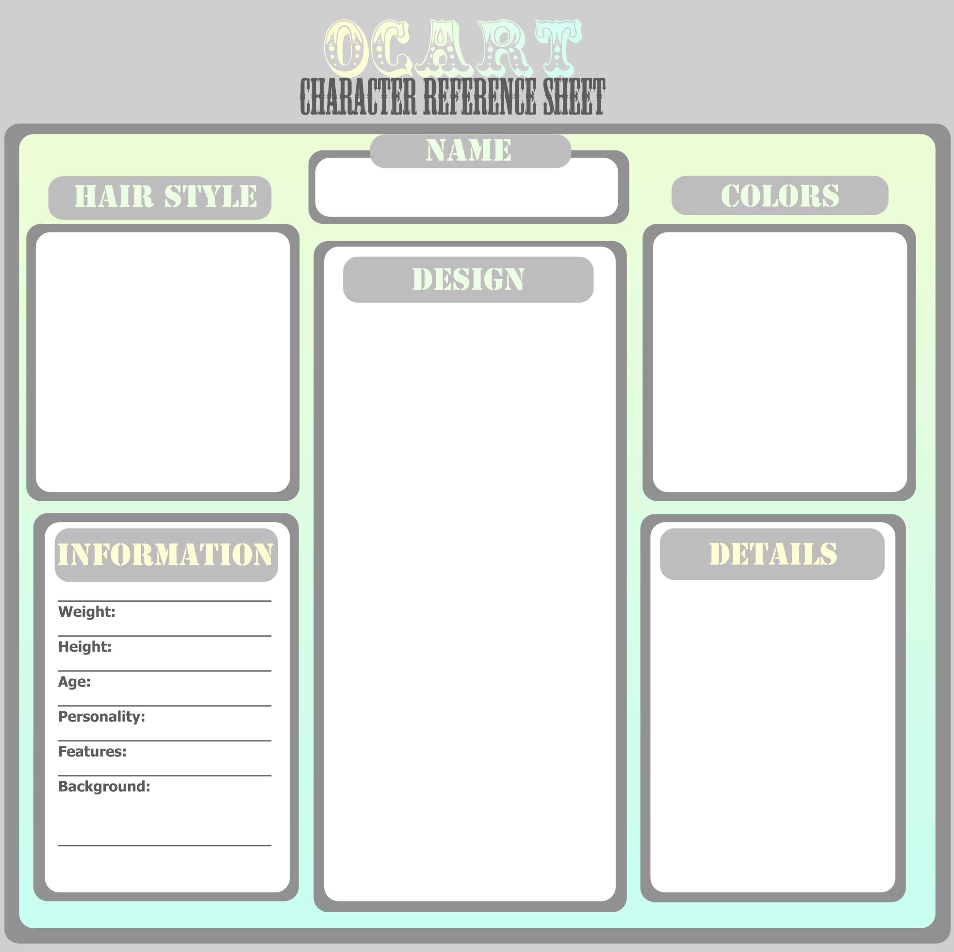 Ocart Character Ref Template By ThePurpleCat On DeviantArt