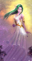 Night Elf (WOW) The Priest of Elune by AmeRay
