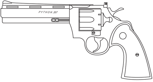 Drawing Lines With Python : Colt python by madbird valiant on deviantart