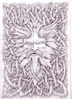 Celtic Greenman Spirit 2006 by VillKat-Arts