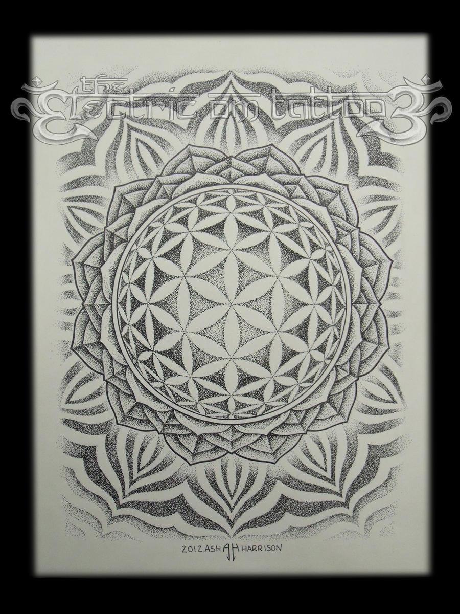 flower of life mandala 2012 by villkat arts on deviantart. Black Bedroom Furniture Sets. Home Design Ideas