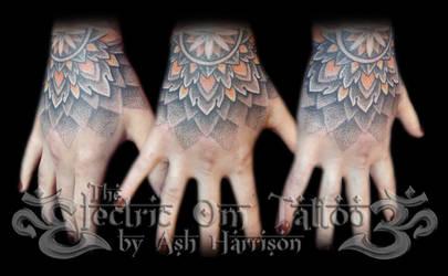 7eab6b365 VillKat-Arts 35 3 Dotwork Hand Tattoo 2013 by VillKat-Arts