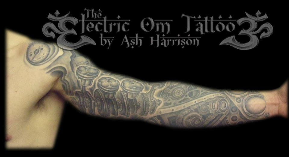 Engine Tattoo Sleeve