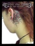 dotwork mandala head tattoo by VillKat-Arts