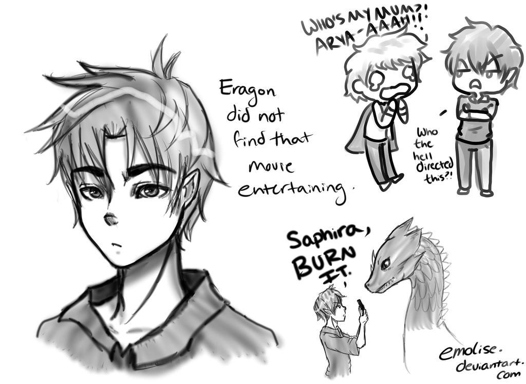Eragon: Sketches by Em... Eragon And Arya Drawings