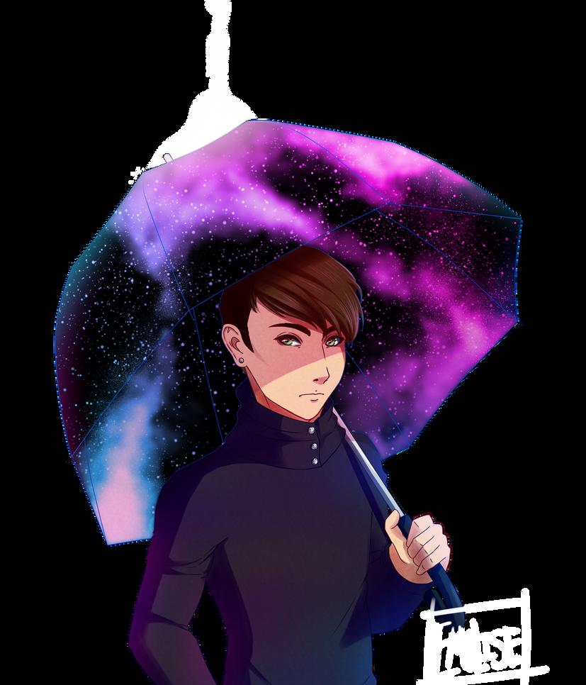 Galaxy Umbrella by Emolise