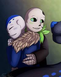 Art Trade- Hugz! by Ray-Ken