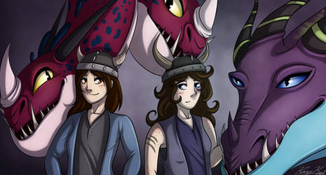 Art Trade- We Have...Our Dragons! by Ray-Ken