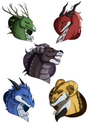 Dragons of Voltron Busts by Ray-Ken