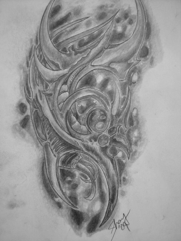 Biomechanical Tattoo by TheShay on deviantART