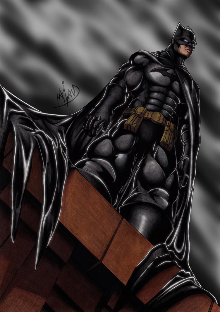 Batman Rooftop by Harshcore