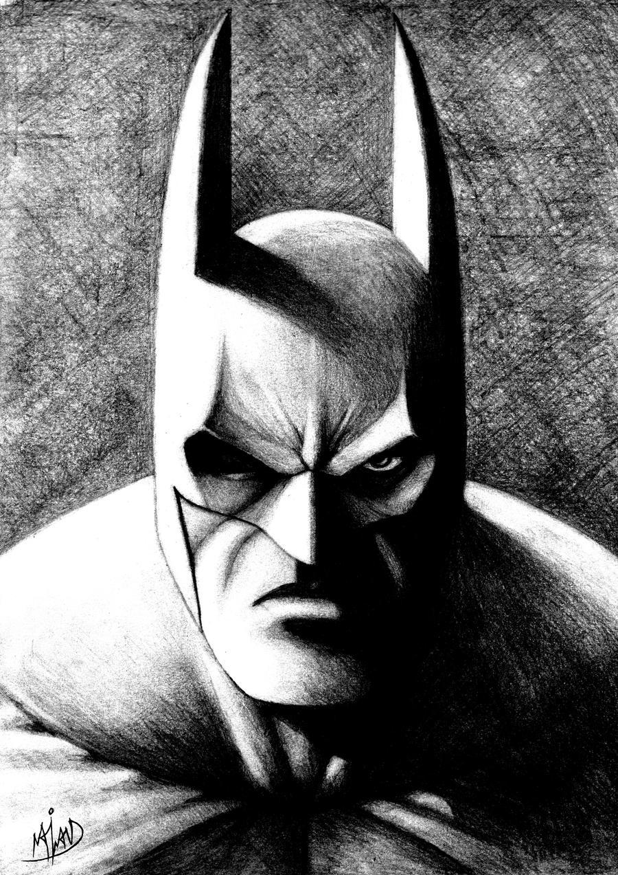 Pencil Batman by Harshcore