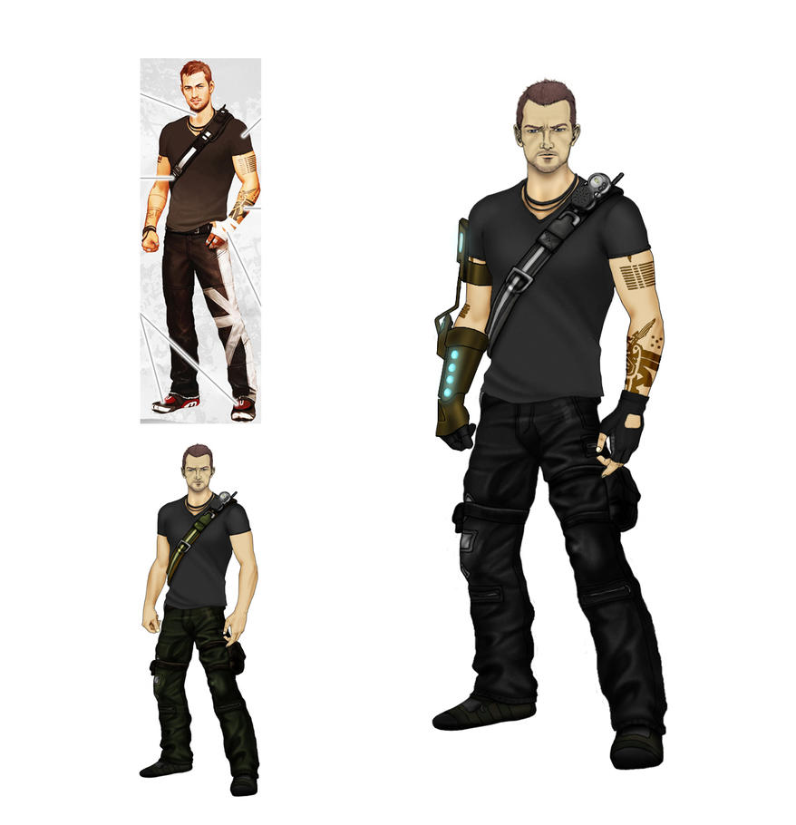 inFamous 2 Character Concept by a1backer