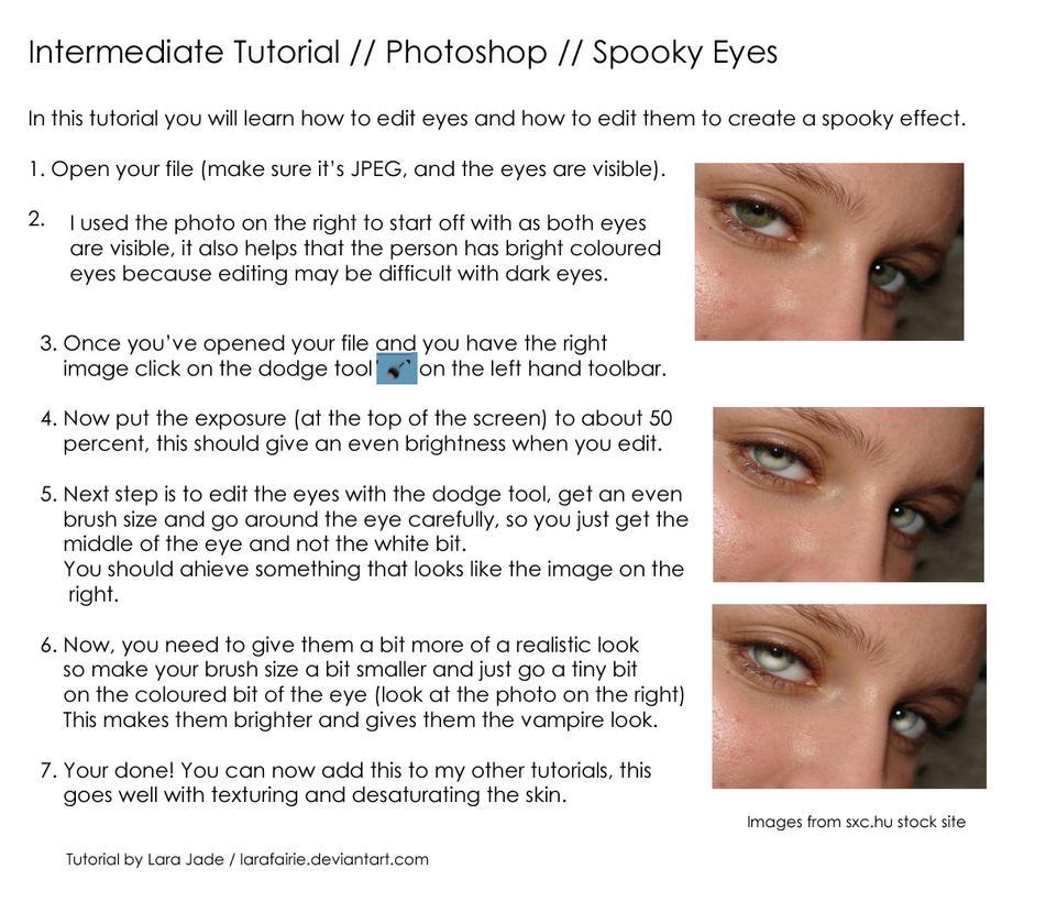 Tutorial - Spooky Eyes by larafairie-stock