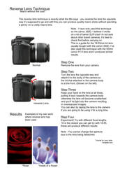 Reverse Lens Tutorial