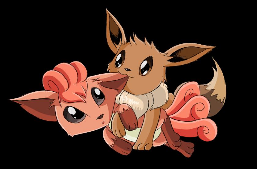 Pokemon Eevee And Vulpix By Nickdallas On Deviantart