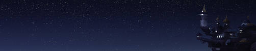 Canterlot's Night Sky by Yukifall