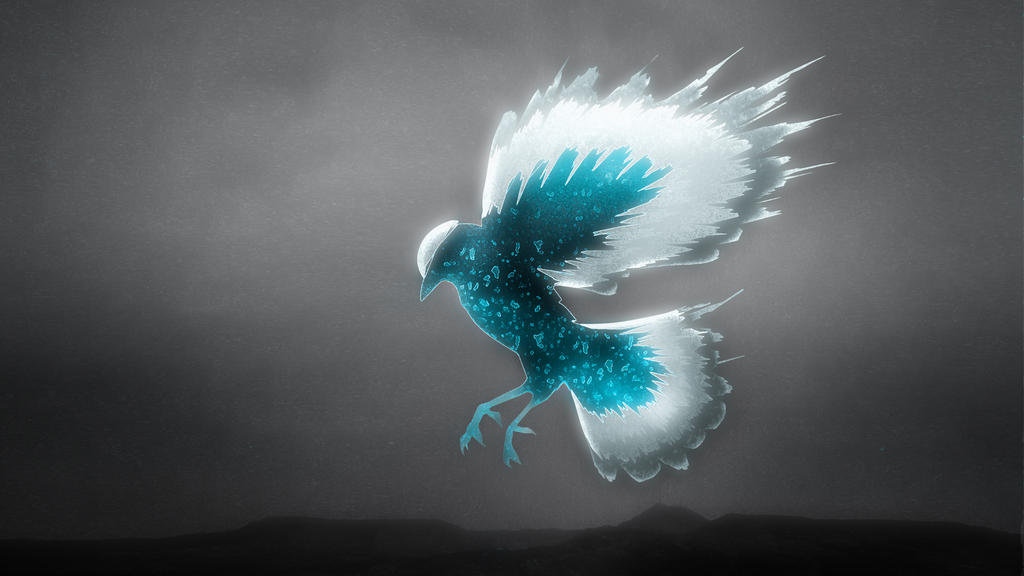 Crystal Blue Bird FullHD Wallpaper by Tinajra on DeviantArt