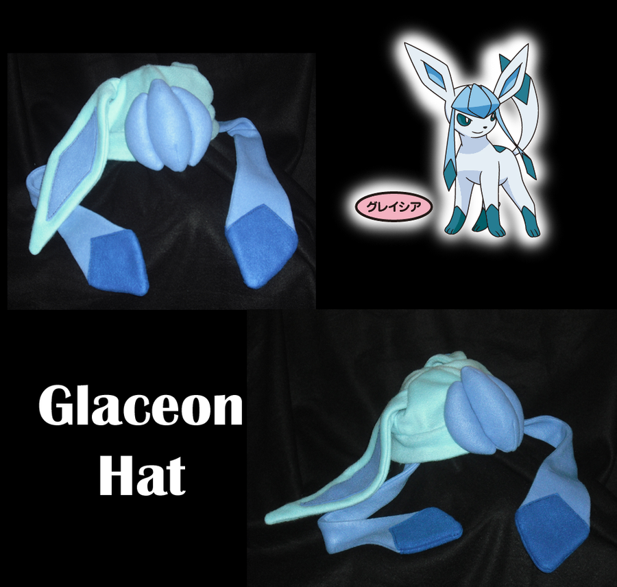 glaceon fleece hat by - photo #17