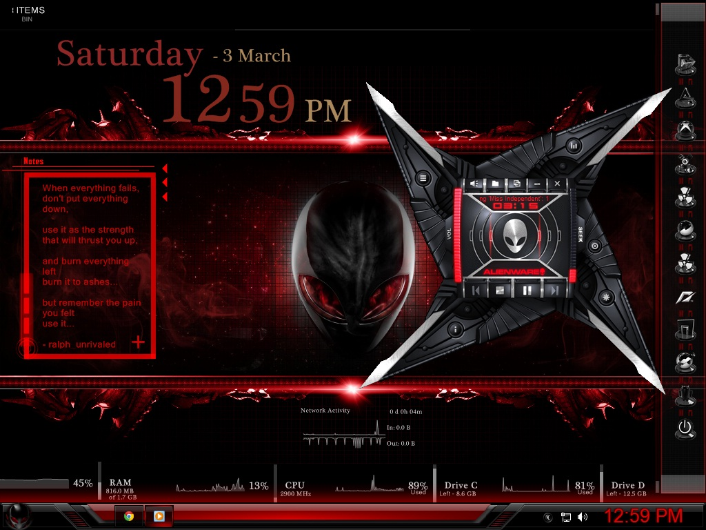 My desktop red alienware theme by unrivaled22 on deviantart my desktop red alienware theme by unrivaled22 voltagebd Choice Image