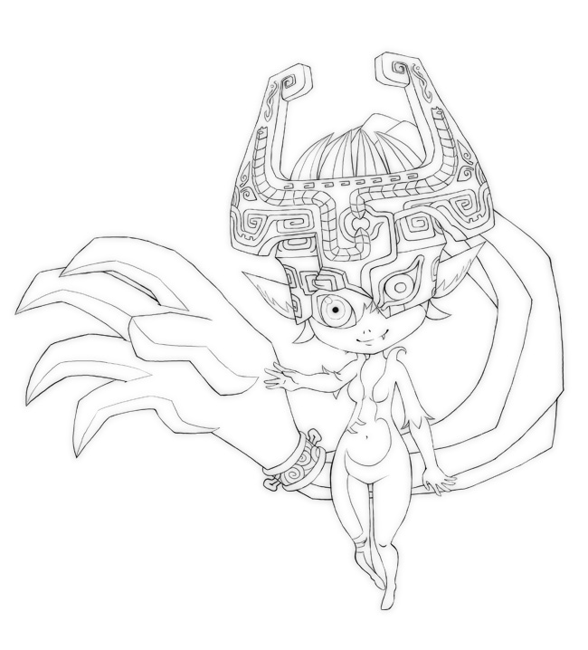 The legend of zelda twilight princess midna coloring page for Midna coloring pages