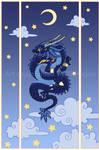 Moon dragon Print version by Blacklotuscomic