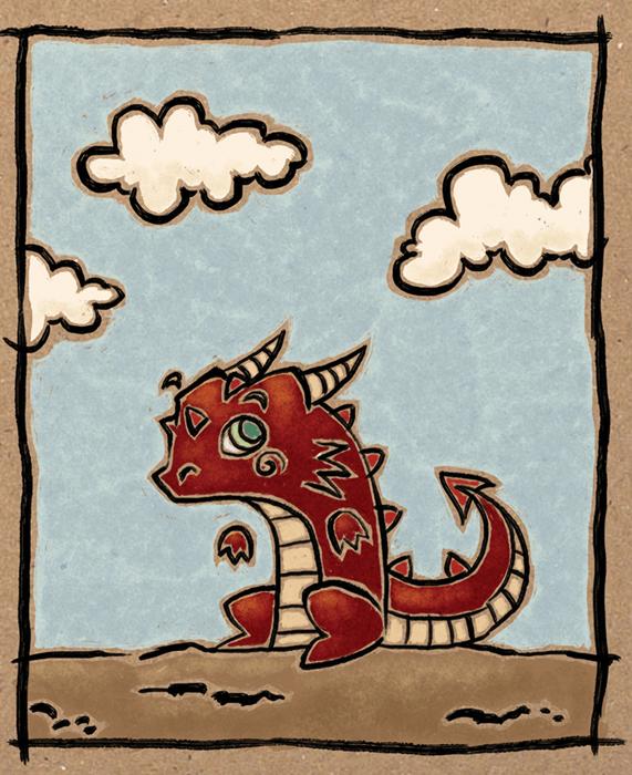 Dragon illustrated