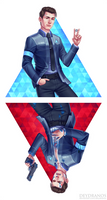 Detroit: Become Human - Connor by Deydranos