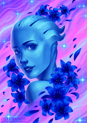 Mass Effect - Liara by Deydranos