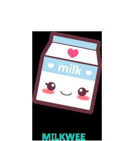 Каваи молоко рисунок
