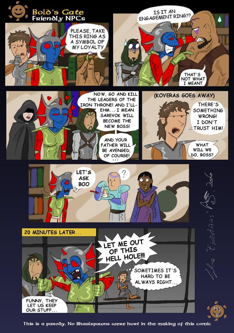 Baldur's Gate comic 2 pg2 by Epantiras