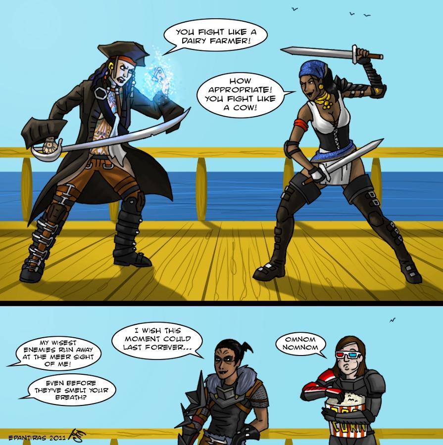 Epic pirate battle by Epantiras