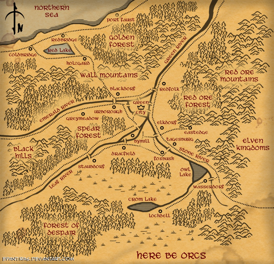 Speardrake - Map by Epantiras