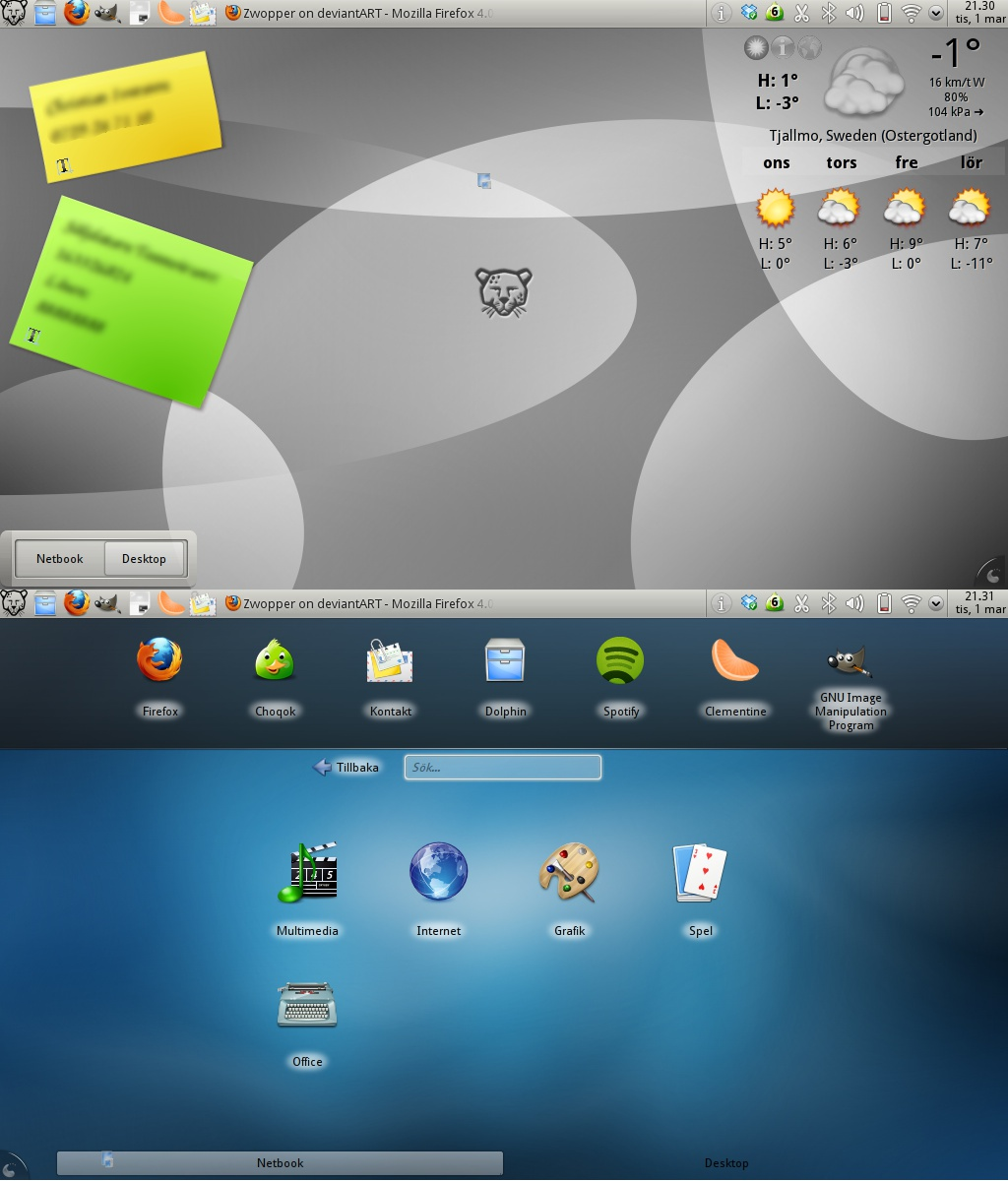 My Desktop 2011-03-01 by Zwopper