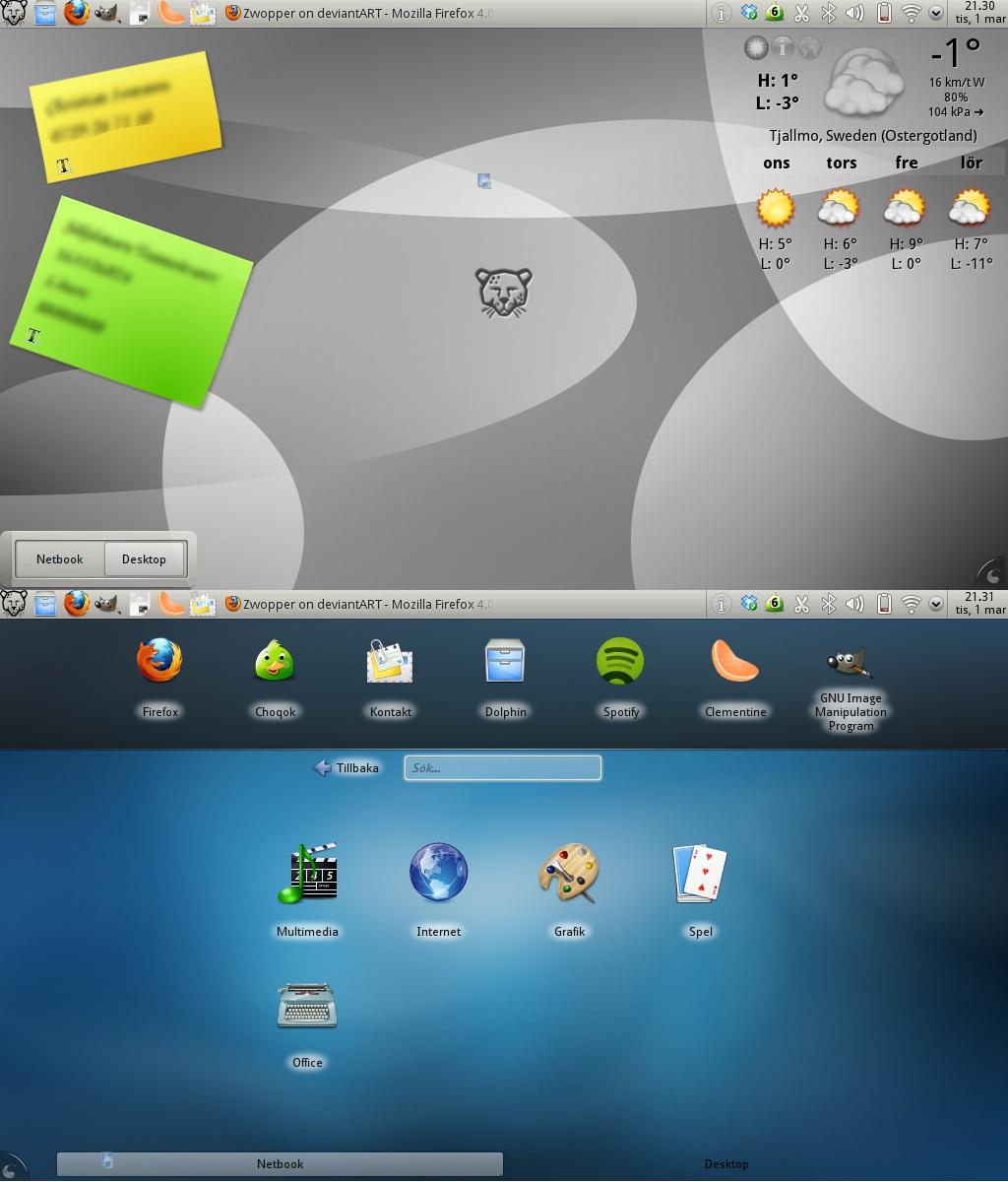 My Desktop 2011-03-01 by Zwopper