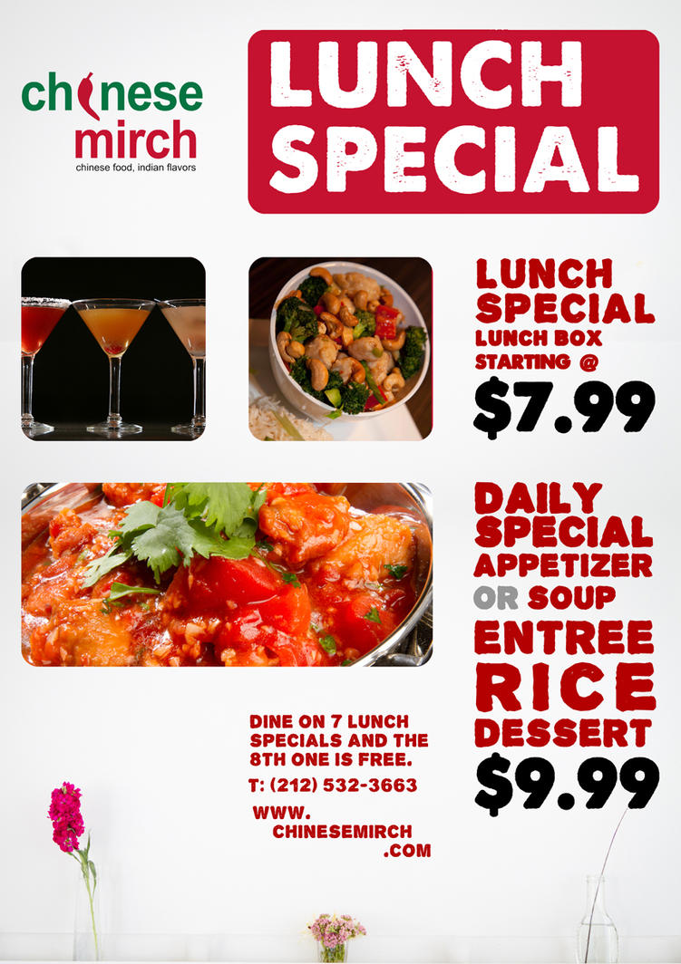Lunch special poster by zyrumtumtuggermaomao on deviantart for Lunch specials