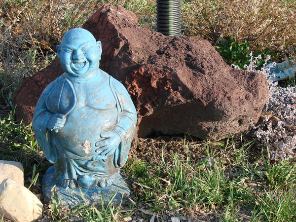 Buddha + rock 1 by Mouse-Stock