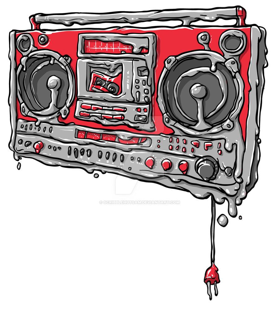 melting boombox by scribblehutsam on DeviantArt