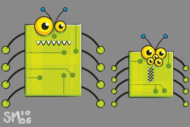 Micro chip bugs by scribblehutsam
