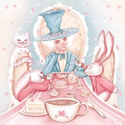 Tea party Alice in Wonderland