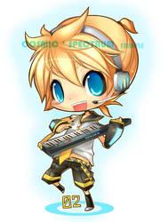 Keychain: VOCALOID Len by CosmicSpectrumm